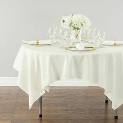"1 pc 72""x72"" Square Cloth Fabric Linen Tablecloth - Ivory -"