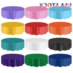 "10/20/40 84"" Dia Round Table Cover Tablecloth Plastic Table"