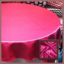 10 Pcs. Tablecloth Round 108 Satin For 5 Feet table Cover Fu