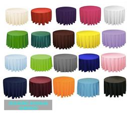 """10 120"""" inch ROUND Polyester Tablecloth Table Cover WEDDING"""