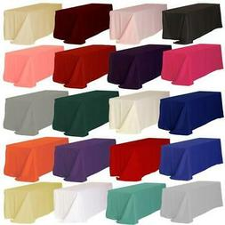 """10 Rectangle 90""""x132"""" inch Polyester Tablecloth 6ft feet Ban"""