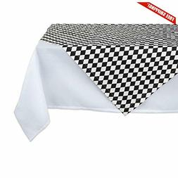 DII 100% Cotton Harlequin Printed Table Topper 40x40,