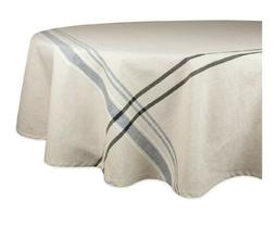 DII 100% Cotton Machine Washable TABLECLOTH FRENCH STRIPE BL