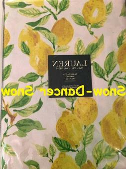 Ralph Lauren 100% Cotton Tablecloth Lemons