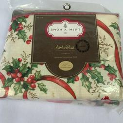 100 percent polyester large christmas table cloth