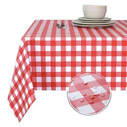 100% Waterproof PVC Table Cloth Oil-Proof Spill-Proof Vinyl