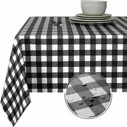 Obstal 100% Waterproof PVC Table Cloth, Oil-Proof Spill-Proo
