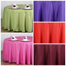 108 round polyester tablecloth wedding table linens