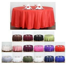 """108"""" Round Polyester Tablecloth For Wedding Party Banquet Ev"""