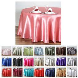 """108"""" Round Satin Tablecloth For Wedding Party Banquet Events"""
