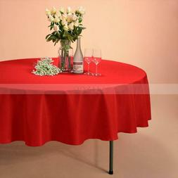 """VEEYOO 108"""" Round Tablecloth Linen Table Cover Weddings Part"""