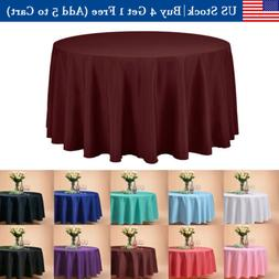 "120"" Inch Round Tablecloths Table Cover for Wedding Parties"