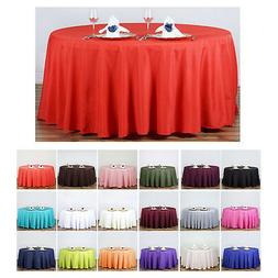 "120"" Round Polyester Tablecloth For Wedding Party Banquet Ev"