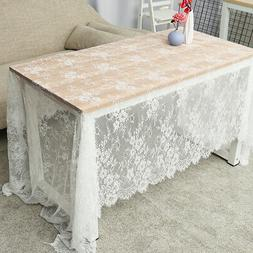 150x300cm Rectangle White Lace Tablecloth Party Wedding Tabl