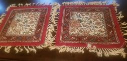 2 Persian Ghalamkar Hand-printed Tapestry, Washable Cotton T