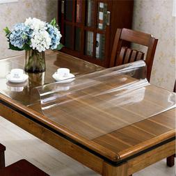 """20"""" x 36"""" Clear PVC Table Cover Table Mat Protector Non-Slip"""