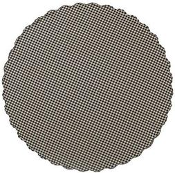 VHC Brands 20213 Black Check Scalloped Table Cloth 70 Round