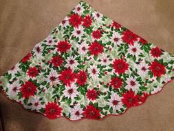 """269.  60"""" ROUND CHRISTMAS TABLE CLOTH.   HOLLY, FERNS & PO"""
