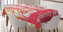 30th Birthday Tablecloth Ambesonne 3 Sizes Rectangular Table