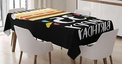 35th Birthday Tablecloth Ambesonne 3 Sizes Rectangular Table