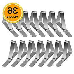 Zealor 36 Packs Tablecloth Clips Stainless Steel Table Cover