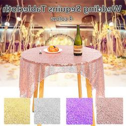 40*60'' Sequin Table Cloth Fabric Cover Wedding Event Banque