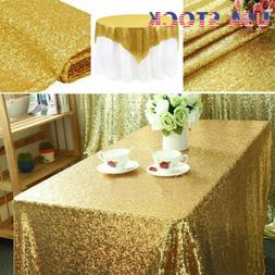 "40"" x 59"" Rectangular Sequin Tablecloth Table Cloth Wedding"