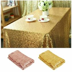 "40""x59"" Sparkly Glitter Sequin Tablecloth Table Cover Weddin"