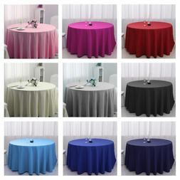 48 inch Round Tablecloth Wedding Banquet Table Cover Polyest