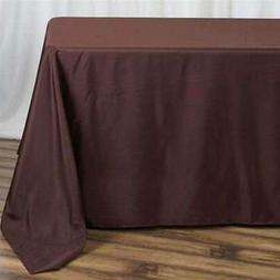 5 Pk 90x132 in. Polyester Rectangle Seamless Tablecloth Wedd
