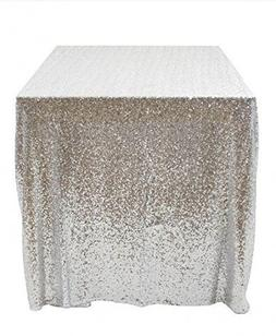 50''x50'' Square Silver Sequin Tablecloth Select Your Color
