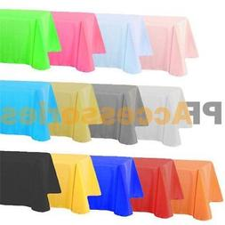 "54"" x 108"" Tablecloth Rectangle Plastic Banquet Party Table"