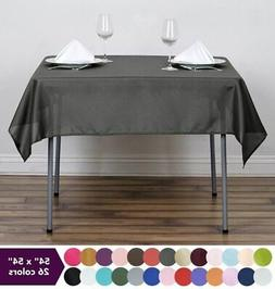 """54 x 54"""" SQUARE POLYESTER Tablecloth Wedding Table Linens Ca"""