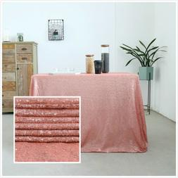 "55""x72"" Sequin Tablecloth Glitter Table Cloth Cover Wedding"