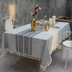 "55""x78"" Decorative Table Cloth Cotton Linen Table Kitchen Di"