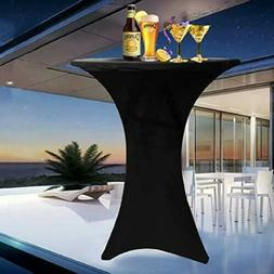 60/80cm Stretchy Round Cocktail Table Cover Bar Spandex Tabl