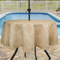 Eforcurtain 60 Inch Round Umbrella Table Cover With Zipper G