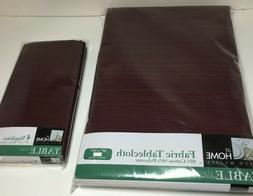 "60"" x 102"" Burgundy Tablecloth Table Cloth Cotton Poly Blend"