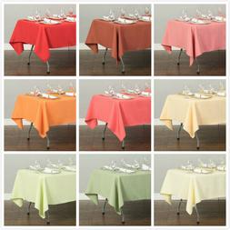 LinenTablecloth 60 x 126 in. Rectangular Poly Tablecloths ,
