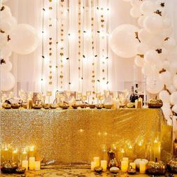 """60""""x102"""" Gold Sequin Tablecloth Gold Sparkly Table Cloth Wed"""