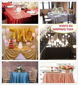 "60""x102""Sequin Tablecloth Sparkly Rectangular Tablecloth Wed"