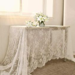 60 X120 inch Lace Tablecloth - White Wedding Lace Tablecloth