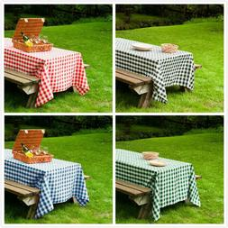 60x102 in. Rect Polyester Tablecloth Gingham Checkered Party