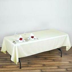 "60x102"" Polyester Rectangle Tablecloths For Wedding Party Ba"