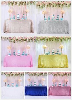 60x120inch Sequin Glitter Tablecloth Rectangle Table Cloth C
