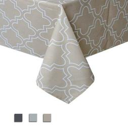 Eforcurtain 60x120Inch Simple Checker Tablecloth Water Resis