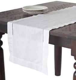 SARO LIFESTYLE 6100 1-Piece Hemstitched Runner Oblong Tablec