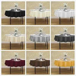 LinenTablecloth 70 in. Round Polyester Tablecloths , 33 Colo