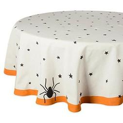 70 round cotton tablecloth black stars perfect