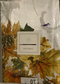 """70"""" Round Table Cloth Thanksgiving Tablecloth Fall Harvest"""